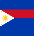 flag of republic of philippines in wartime vector image