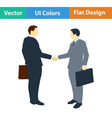 Flat design icon of Meeting businessmen vector image vector image