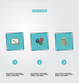 flat icons income gear schedule and other vector image vector image