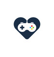 game love logo icon design vector image