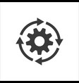 gear workflow progress icon vector image