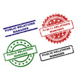 grunge textured public relations manager stamp vector image