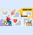 informative banner inscription nursing home vector image vector image