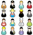 jobs set01 vector image vector image