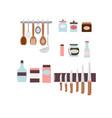 kitchen utensils set of spoon vector image