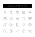 line icons set machine learning pack vector image vector image