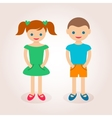 Little cute boy and girl vector image vector image