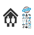 Living Persons Flat Icon with Bonus vector image