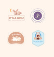 logo with baby shower design concept for brand vector image vector image