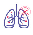 lungs cancer pain illness or lung pneumonia and vector image