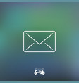 mail icon - thin series vector image