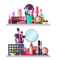 make up big collection posters vector image vector image