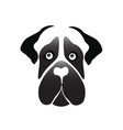 mastiff dog icon vector image