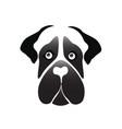 mastiff dog icon vector image vector image
