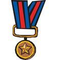 medal icon logo template vector image