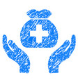 medical fund care hands grunge icon vector image vector image