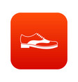 men shoe with lace icon digital red vector image vector image
