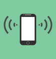 mobile phone icon flat vector image