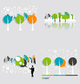 Modern infographics template style Businessman vector image vector image