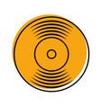 music vinyl disk record vintage cartoon vector image vector image