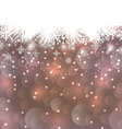 New Year background made in snowflakes copy space vector image vector image