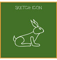 of animal symbol on bunny vector image vector image