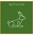 of animal symbol on bunny vector image