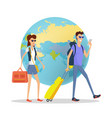 people on vacation concept flat design vector image