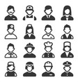 Professions avatars set on white background