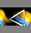 rainbow fluid colors wave and metallic geometric vector image