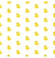 Rubber duck pattern vector image vector image