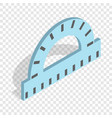 ruler for drawing isometric icon vector image vector image