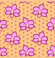seamless floral pattern with pink orchid flowers vector image vector image