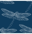 Seamless pattern with hand drawn dragonflies vector image