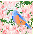 seamless texture rhododendrons bluebird vector image vector image