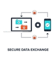 Secure data exchange vector image vector image
