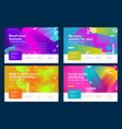set colorful effective abstract website vector image vector image