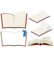 set of book on white background vector image vector image