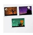 Set of post stamps Halloween vector image vector image