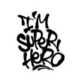 sprayed i super hero font with overspray in black vector image vector image