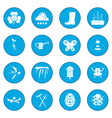 spring icon blue vector image