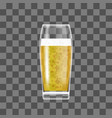 transparent beer glass vector image