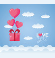 valentine day card vector image