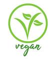 vegan symbol vector image vector image
