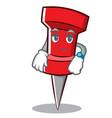 waiting red pin character cartoon vector image