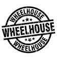 wheelhouse round grunge black stamp vector image vector image