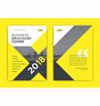 yellow brochure cover design - x shape brochure vector image vector image