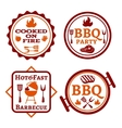 Barbecue logo vector image