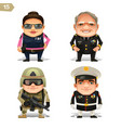 military professions set vector image