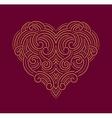 Valentine day Beautiful thin line ornamental heart vector image
